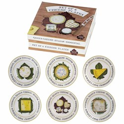 Set of 6 Cheese Plates   6 Assorted Cheese Plates