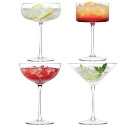 LSA Assorted Lulu Cocktail Glasses - Set of Four | | LSA Glasses