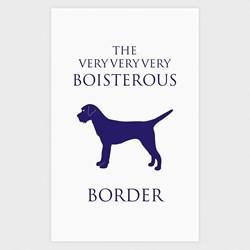 Boisterous Border Terrier Tea Towel   Terrier Tea Towel