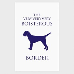 Boisterous Border Terrier Tea Towel | Terrier Tea Towel
