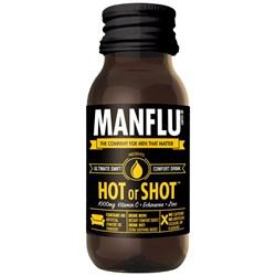 Man Flu Hot or Shot Comfort Drink   It's hard being a man