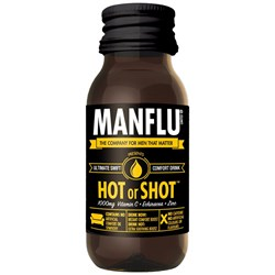 Man Flu Hot or Shot Comfort Drink | It's hard being a man