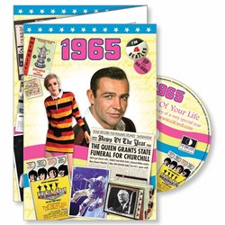 DVD Greeting Card 1965 or 50th Birthday or Anniversary