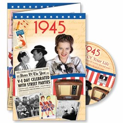 DVD Greeting Card 1945 or 70th Birthday or Anniversary