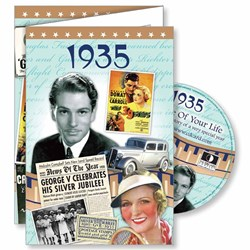 DVD Greeting Card 1935 or 80th Birthday or Anniversary