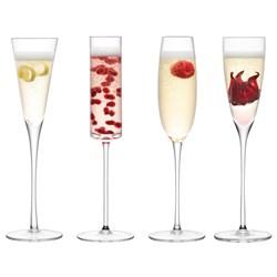 LSA Assorted Lulu Champagne Flutes | Set of 4