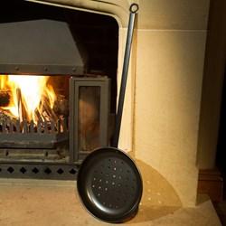 BBQ Chestnut Roasting Pan   Open Fire Roasting