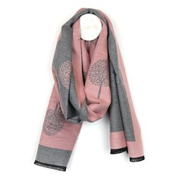 Tree of Life Jacquard Scarf - Pink