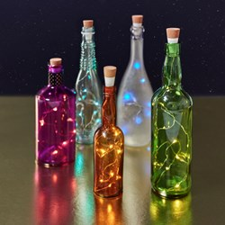 Multi Coloured Bottle String Lights