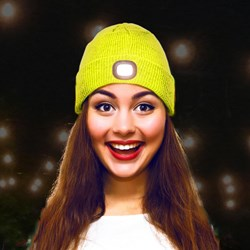BEAMIE LED Light Beanie Sport Yellow