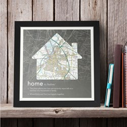 Personalised Home Definition Map | Framed
