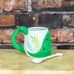 Dinosaur Mug with Bone Stirrer