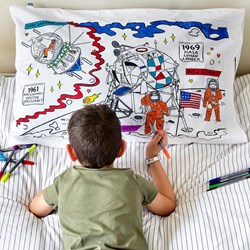 Space Doodle Pillowcase - with fabric pens