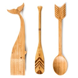 Bamboo Kitchen Utensils: Literary Themed