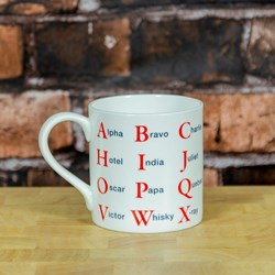 Phonetic Alphabet Mug