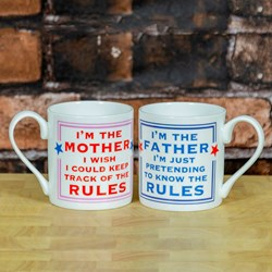 The Mother and Father Rules Mug Set
