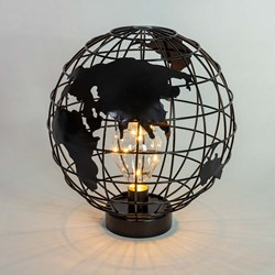 Globe LED Lamp: Battery Operated