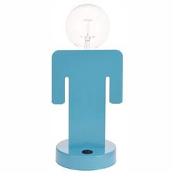 Male Body Shape LED Table Lamp: Blue