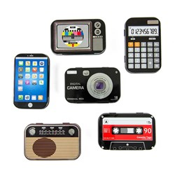 Set of 6 Mini Retro Tins