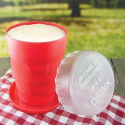 Emergency Pop Up Pint | The Collapsible Pint Glass!