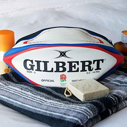 England Rugby Ball Wash Bag | Authentic Gilbert Match Ball