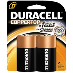 Duracell Batteries D Card of 2