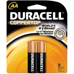 Duracell Batteries  AA Card of 2