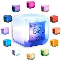 Aurora Ice Night Light Cube Clock