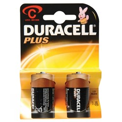 Duracell Batteries C - Card of 2
