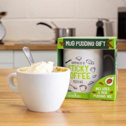 Sticky Toffee Mug Cake and Mug Gift Set