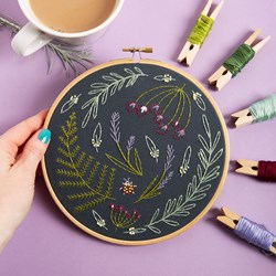Wildwood Embroidery Kit | in black