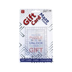 Gift Card Maze Puzzle