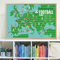European Football  Clubs Poster with Stickers