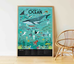 The Ocean Discovery Poster with Stickers
