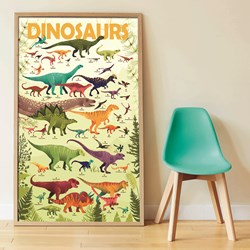 Dinosaurs Educational Poster with Stickers