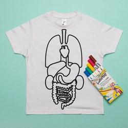 Colour-in Body Organs T-shirt
