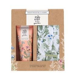 Gardening Gloves and Hand Cream Gift Set