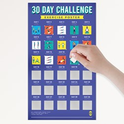 30 Day Challenge Poster Exercise