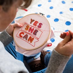 Yes She Can Cross Stitch Kit