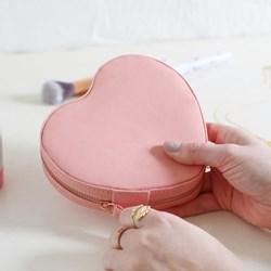 Pink Heart Jewellery Case