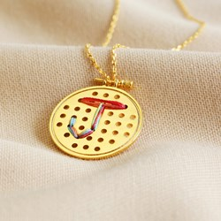 Happiness is Homemade Stitch It Gold Necklace