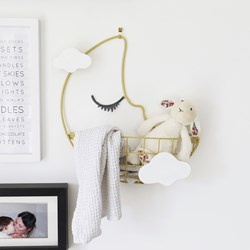 Crescent Moon Wall Basket with Hooks