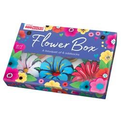Six Flower Oddsocks in a Box