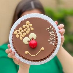 Personalised Mini Rudolph Smash Cake