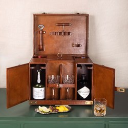 Real Leather Drinks Case