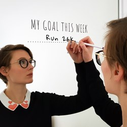'My Goal This Week' Mirror Sticker and Pen