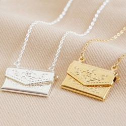Envelope Necklace | In Silver or Gold
