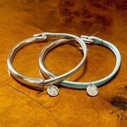 Lily Leather & Silver Hook Bracelet | Tilley & Grace