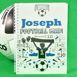 Personalised Football Mad Notebook