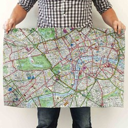 Personalised Map Tea Towel | OS or London Street Map